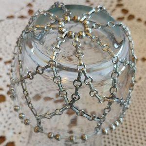 Hair bun vintage net metal cage